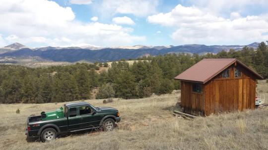 cabin on colorado land bordering blm